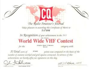 CQ VHF 2011